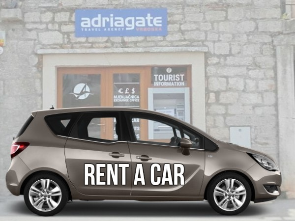 Rent a car Vrboska island Hvar
